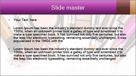 Makeup brush PowerPoint Template - Slide 2