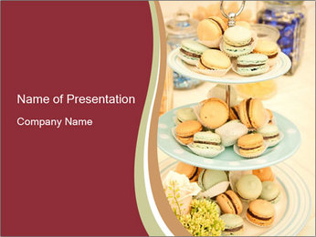 French macarons PowerPoint Template - Slide 1