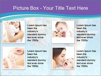 Little boy learning to swim PowerPoint Template - Slide 14