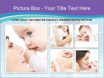 Little boy learning to swim PowerPoint Template - Slide 19