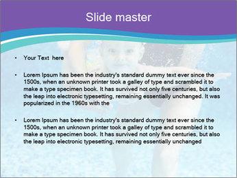 Little boy learning to swim PowerPoint Template - Slide 2