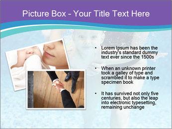 Little boy learning to swim PowerPoint Template - Slide 20