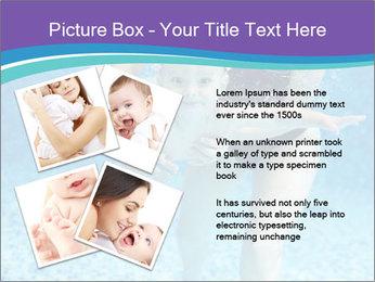 Little boy learning to swim PowerPoint Template - Slide 23