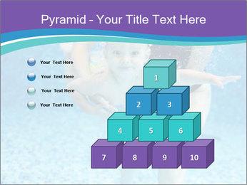Little boy learning to swim PowerPoint Template - Slide 31