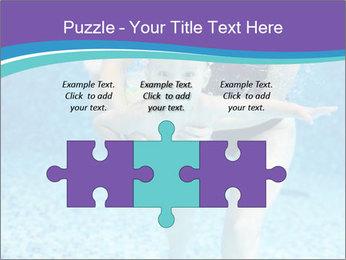 Little boy learning to swim PowerPoint Template - Slide 42