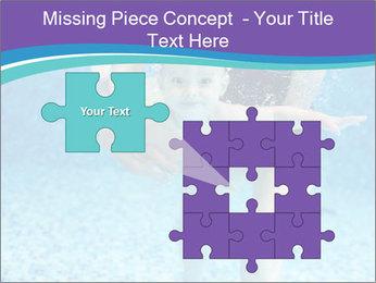 Little boy learning to swim PowerPoint Template - Slide 45