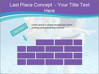 Little boy learning to swim PowerPoint Template - Slide 46