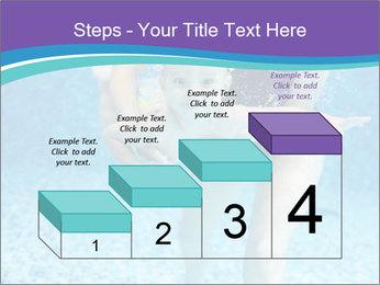 Little boy learning to swim PowerPoint Template - Slide 64