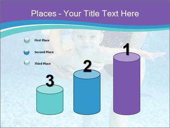 Little boy learning to swim PowerPoint Template - Slide 65