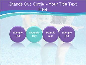 Little boy learning to swim PowerPoint Template - Slide 76