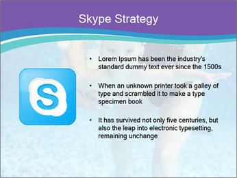 Little boy learning to swim PowerPoint Template - Slide 8