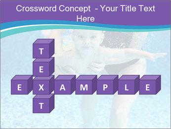 Little boy learning to swim PowerPoint Template - Slide 82
