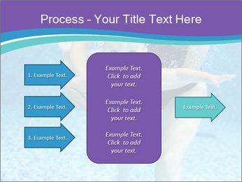 Little boy learning to swim PowerPoint Template - Slide 85