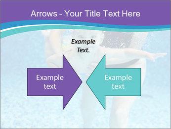 Little boy learning to swim PowerPoint Template - Slide 90