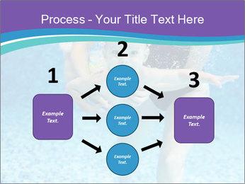 Little boy learning to swim PowerPoint Template - Slide 92