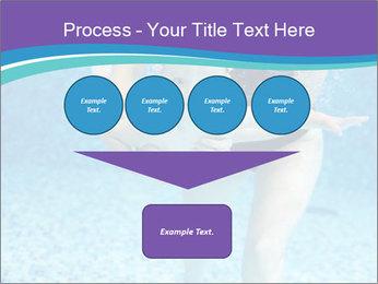 Little boy learning to swim PowerPoint Template - Slide 93