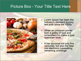 Freshly prepared pizza PowerPoint Template - Slide 13
