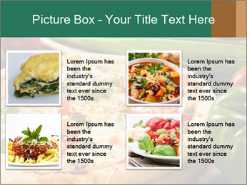 Freshly prepared pizza PowerPoint Template - Slide 14