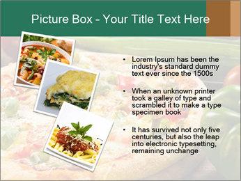 Freshly prepared pizza PowerPoint Template - Slide 17
