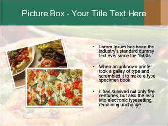 Freshly prepared pizza PowerPoint Template - Slide 20