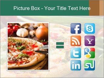 Freshly prepared pizza PowerPoint Template - Slide 21