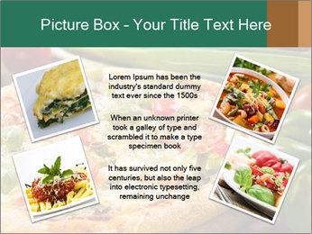 Freshly prepared pizza PowerPoint Template - Slide 24