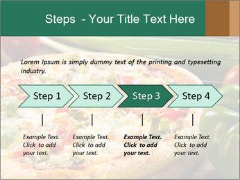 Freshly prepared pizza PowerPoint Template - Slide 4