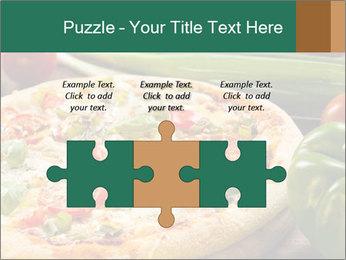 Freshly prepared pizza PowerPoint Template - Slide 42