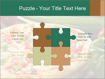 Freshly prepared pizza PowerPoint Template - Slide 43