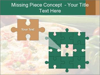 Freshly prepared pizza PowerPoint Template - Slide 45