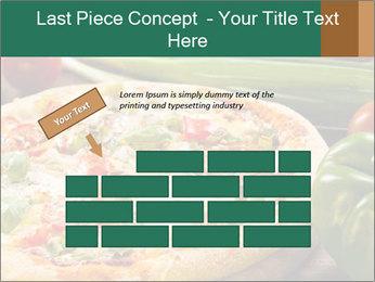Freshly prepared pizza PowerPoint Template - Slide 46