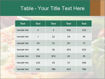 Freshly prepared pizza PowerPoint Template - Slide 55