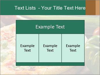 Freshly prepared pizza PowerPoint Template - Slide 59