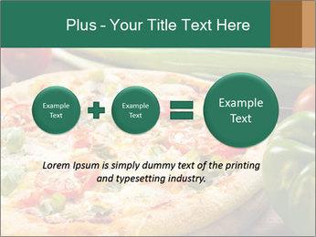 Freshly prepared pizza PowerPoint Template - Slide 75