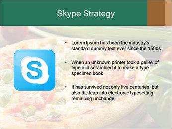 Freshly prepared pizza PowerPoint Template - Slide 8