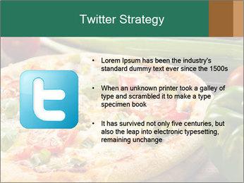 Freshly prepared pizza PowerPoint Template - Slide 9