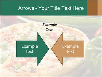 Freshly prepared pizza PowerPoint Template - Slide 90