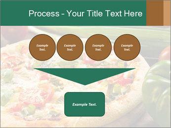 Freshly prepared pizza PowerPoint Template - Slide 93