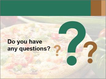Freshly prepared pizza PowerPoint Template - Slide 96