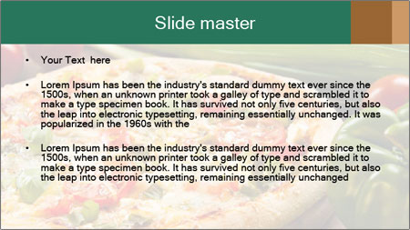 Freshly prepared pizza PowerPoint Template - Slide 2