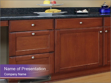 Kitchen in luxury home PowerPoint Template