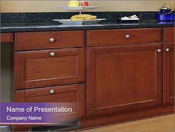 Kitchen in luxury home PowerPoint Template - Slide 1