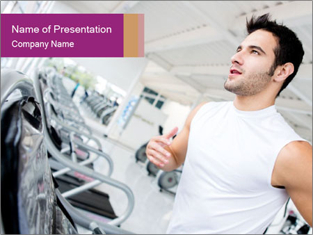 Handsome gym PowerPoint Template