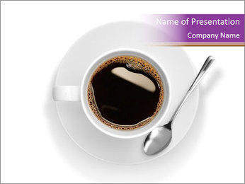 Cup of coffee PowerPoint Template - Slide 1