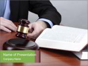 Wooden gavel PowerPoint Templates