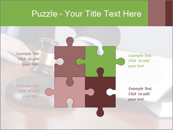 Wooden gavel PowerPoint Template - Slide 43