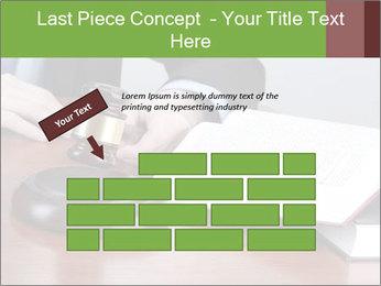 Wooden gavel PowerPoint Template - Slide 46