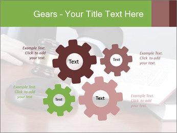 Wooden gavel PowerPoint Template - Slide 47