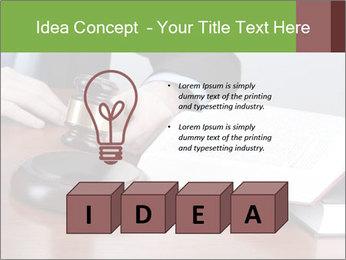 Wooden gavel PowerPoint Template - Slide 80