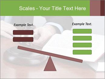Wooden gavel PowerPoint Template - Slide 89